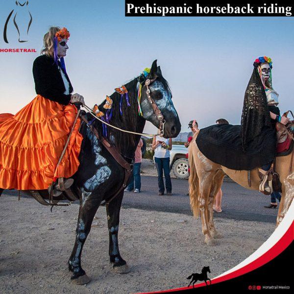 Prehispanic horseback riding
